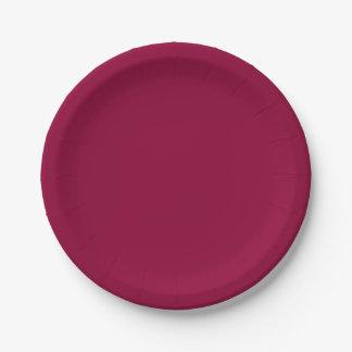 Vino rojo sólido plato de papel 17,78 cm