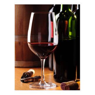 Vino rojo postal