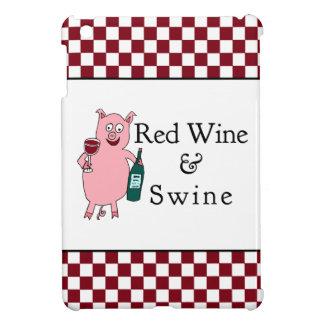 Vino rojo y cerdos iPad mini cárcasas