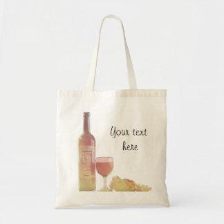 Vino rosado de encargo con las uvas