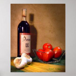 """Vino Rosso"" poster"