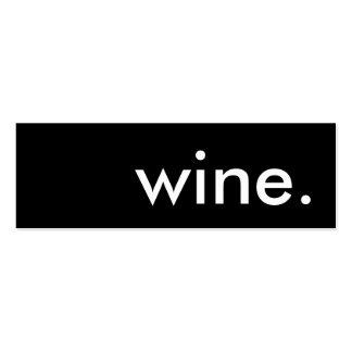 vino tarjetas de visita mini