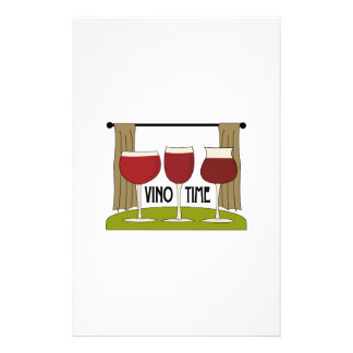 Vino Time Personalized Stationery