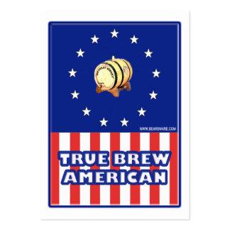 Vino verdadero del americano del Brew Tarjeta De Visita