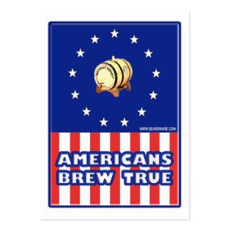 Vino verdadero del Brew de los americanos Plantillas De Tarjeta De Negocio