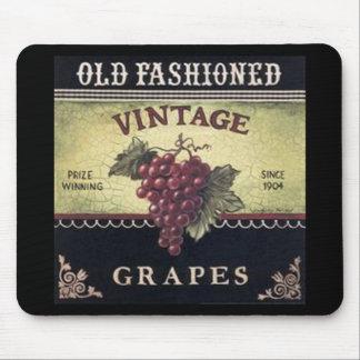 Vino viejo de las uvas del vintage de la moda, púr alfombrilla de raton