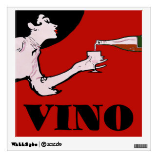 VINO-Vintage Style Lady Poster Wall Decal