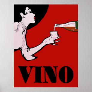 Vino Wine Vintage Lady Posters