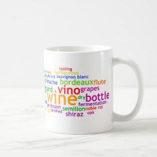 Vino Wordle Taza De Café