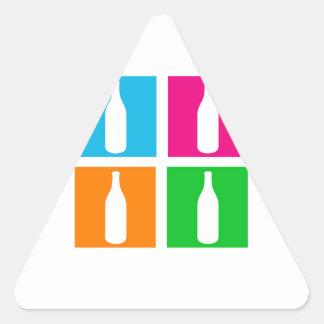 vino y bebidas espirituosas gráficos calcomania triangulo
