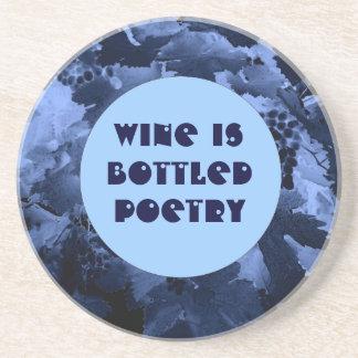 vino y práctico de costa de la poesía posavasos para bebidas