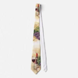 Vino y queso corbata personalizada