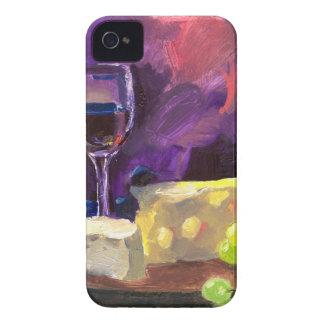 Vino y queso iPhone 4 Case-Mate cárcasas