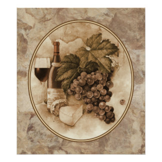Vino y queso posters