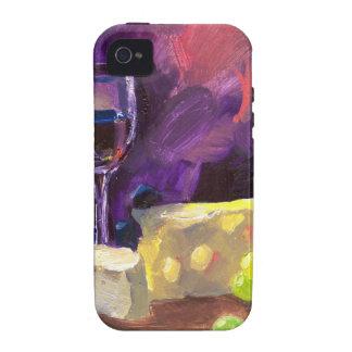 Vino y queso vibe iPhone 4 carcasa
