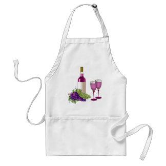 Vino y tostada de las uvas delantal