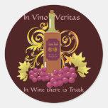 Vino y uvas pegatina