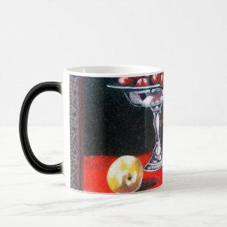 Vino y uvas tazas de café