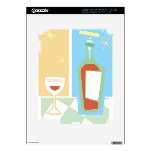 Vino y vidrio retros #1 iPad 3 skin