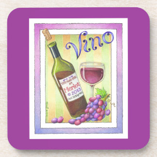VINO!  You Had Me at MERLOT! Beverage Coaster