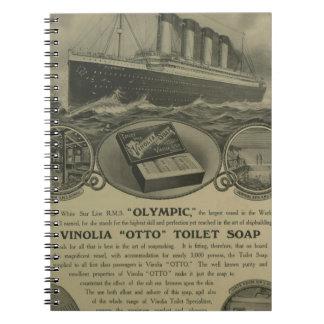 Vinolia Otto Toilet Soap advert Notebook