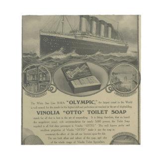 Vinolia Otto Toilet Soap advert Notepad