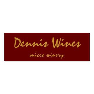 Vinos de Dennis Tarjetas De Visita Mini