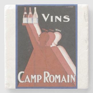 Vins Camp Romain vintage art wine print Stone Coaster
