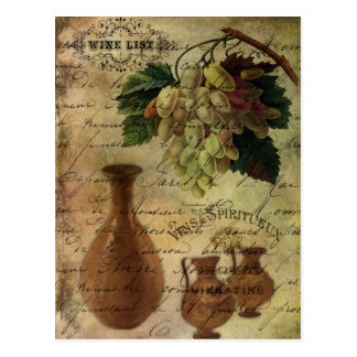Vins Spiritueux, Nectar of the Gods Postcard