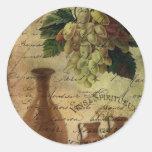 Vins Spiritueux, Nectar of the Gods Classic Round Sticker
