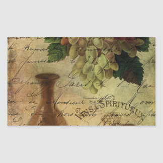 Vins Spiritueux, Nectar of the Gods Rectangle Sticker