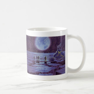 Vintae Science Fiction Sci Fi Alien Lunar Landing Mug