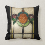 Vintage1940's STAINED GLASS PILLOW..AMERICAN MOJO