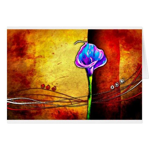 Vintage 02 del venge de Wenge de la flor Felicitación