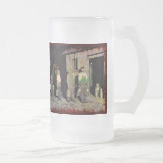 Vintage 035 frosted glass beer mug
