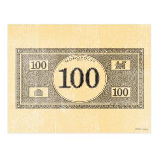 Vintage 100 Dollar Bill Postcard