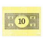Vintage 10 Dollar Bill Post Card