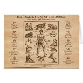 Vintage 12 Signs of the Zodiac Greeting Cards