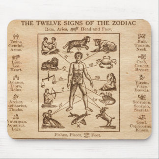 Vintage 12 Signs of the Zodiac Mouse Pad
