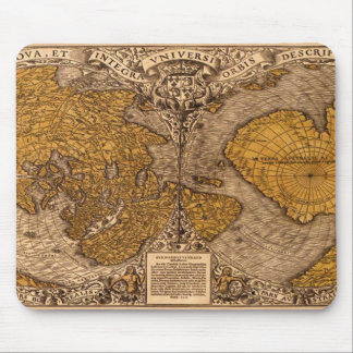 Vintage 1531 Orince Fine's Old World Map Mouse Pad