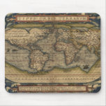 Vintage 1570 Abraham Ortelius' Old World Map Mouse Pad