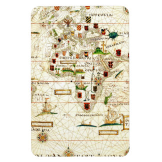 Vintage 1573 Old World Map Magnet