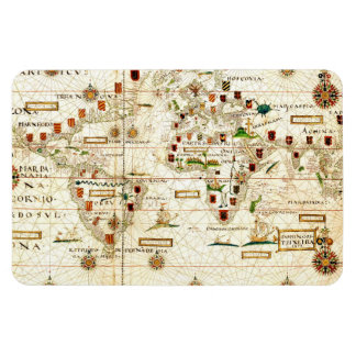 Vintage 1573 World Map Magnet