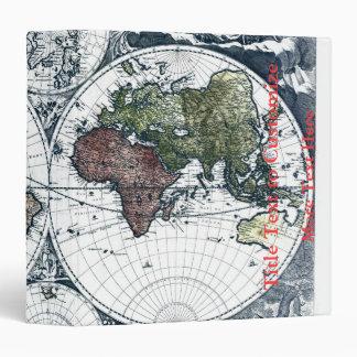 Vintage 1658 Nicolao Visscher World Map 3 Ring Binder