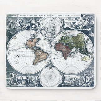 Vintage 1658 Nicolao Visscher World Map Mouse Pad
