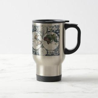 Vintage 1658 Nicolao Visscher World Map Mugs