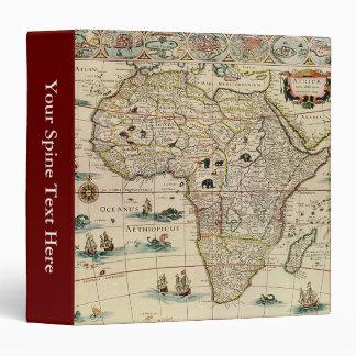 Vintage 1660's Africa Map by Willem Janszoon Blaeu Binder