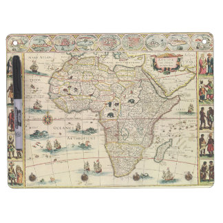 Vintage 1660's Africa Map by Willem Janszoon Blaeu Dry Erase Board With Keychain Holder