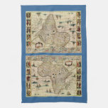 Vintage 1660's Africa Map by Willem Janszoon Blaeu Hand Towels