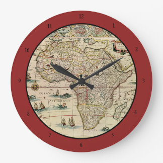 Vintage 1660's Africa Map by Willem Janszoon Blaeu Large Clock